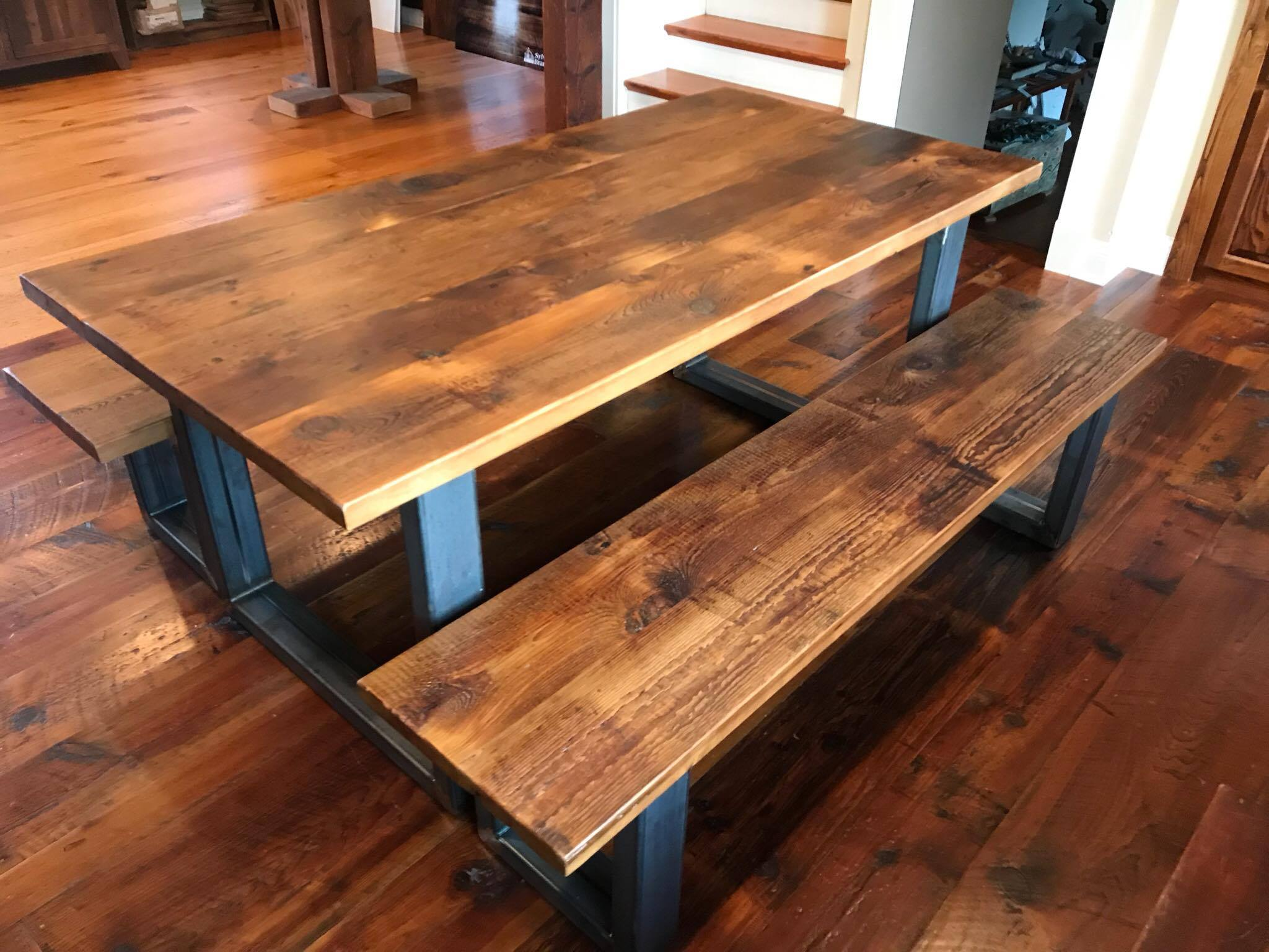 Incredible Reclaimed Wood Plank Tables And Countertops Sylvan Brandt Gmtry Best Dining Table And Chair Ideas Images Gmtryco