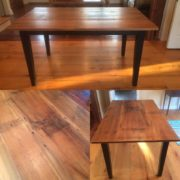Weatherboard Table + Black base